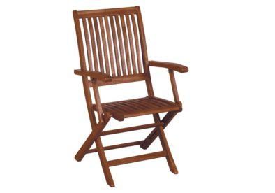 ξύλινη αναδιπλώμενη πολυθρόνα με χαμηλή πλάτη