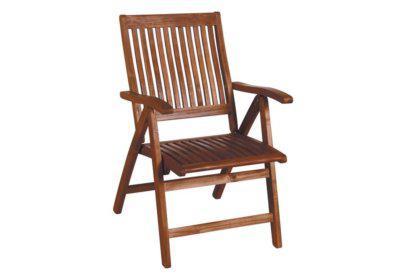 ξύλινη αναδιπλώμενη πολυθρόνα με πέντε θέσεις