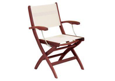 ξύλινη πολυθρόνα σκηνοθέτη με χαμηλή πλάτη shorea