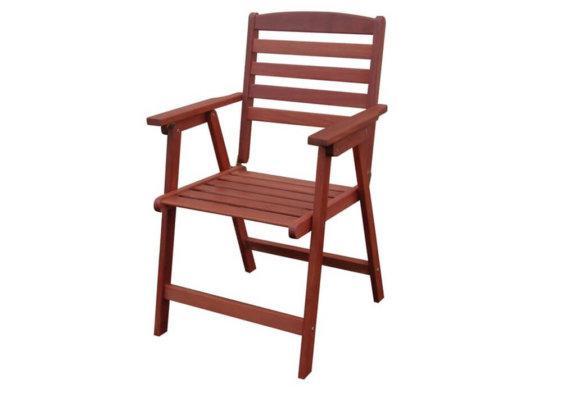 ξύλινη πτυσσόμενη πολυθρόνα χαμηλής πλάτης shorea