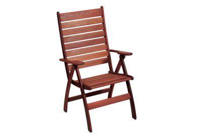ξύλινη πτυσσόμενη ψηλόπλατη πολυθρόνα τριών θέσεων shorea
