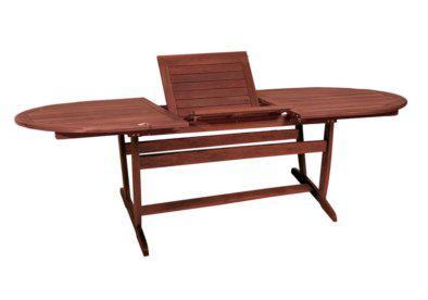 ξύλινο οβάλ επεκτεινόμενο τραπέζι από shorea