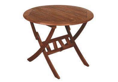 ξύλινο στρογγυλό αναδιπλώμενο τραπέζι από ακακία