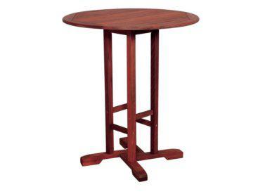 ξύλινο στρογγυλό σταθερό τραπέζι shorea