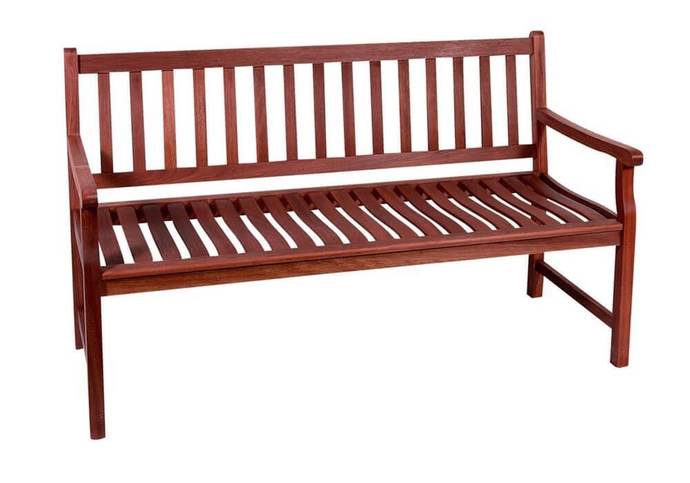 ξύλινος διθέσιος καναπές από shorea