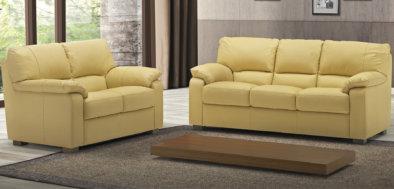 Σετ τριθέσιος και διθέσιος δερμάτινος Ιταλικός καναπές
