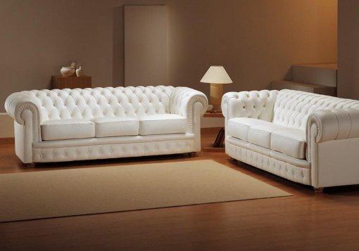 Δερμάτινος Ιταλικός καναπές Chesterfield