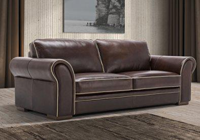 Δερμάτινος τριθέσιος Ιταλικός καναπές Winchester