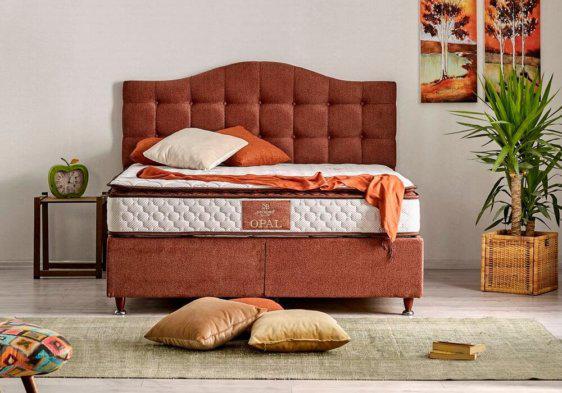 μοντέρνο υφασμάτινο κρεβάτι