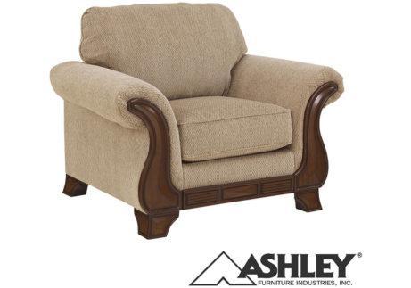 πολυθρόνα ashley ύφασμα μπεζ κλασική