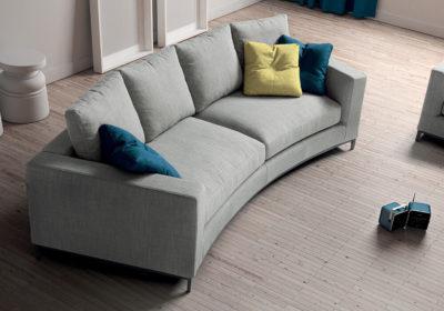 Τετραθέσιος καναπές ημικυκλικος