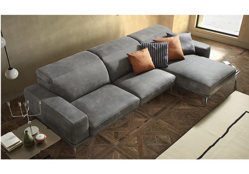 Ιταλικός Δερμάτινος καναπές γωνία