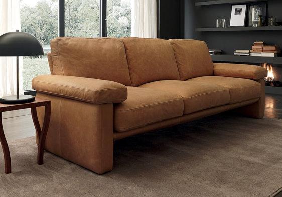 Ταμπά Ιταλικός Δερμάτινος Καναπές