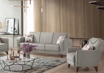 Καναπές κρεβάτι με Καπιτονέ πλαϊνό σχέδιο Ef-105087
