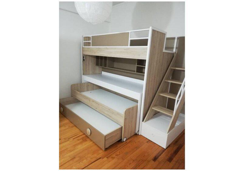Κουκέτα με 2 κρεβάτια και γραφείο με σκάλα
