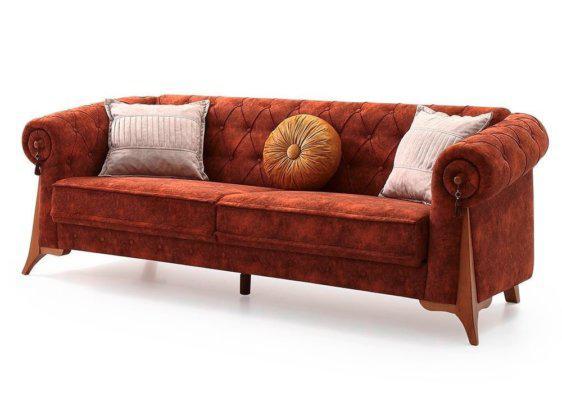Κλασικός καπιτονέ καναπές