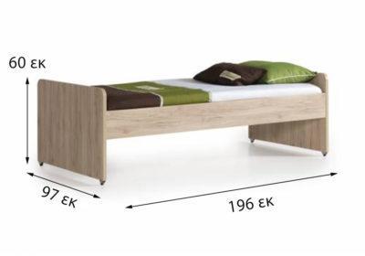 κρεβάτι μονό για κουκέτα πολυμορφική