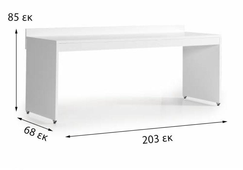 λευκό γραφείο κουκέτας