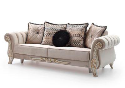 Λευκός κλασικός καναπές κρεβάτι