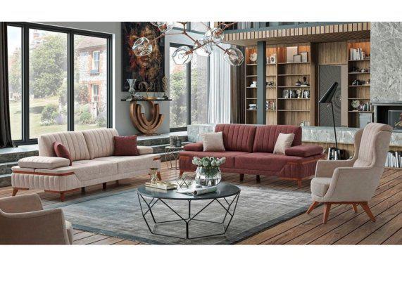 Κομψό ιταλικό σαλόνι, καθιστικό με vintage στυλ