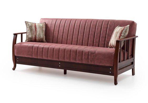 παραδοσιακός ξύλινος καναπές κρεβάτι