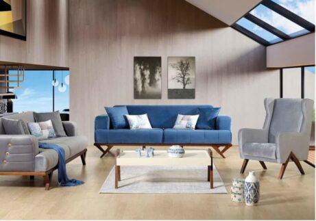 Σαλόνια μοντέρνα-τριθέσιοι διθέσιοι καναπέδες