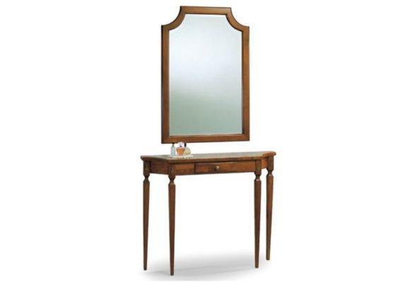 Κλασικό έπιπλο εισόδου-κονσόλα με ένα συρταράκι και καθρέφτη