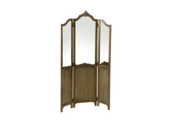 Παραβάν ξύλινο με καθρέφτες