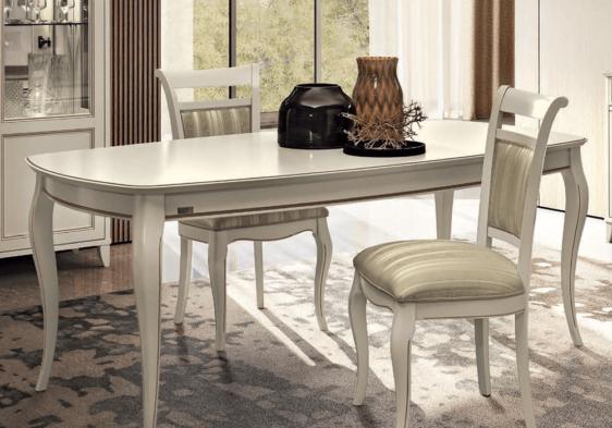 Ιταλικό λευκό τραπέζι τραπεζαρίας με επεκτάσεις