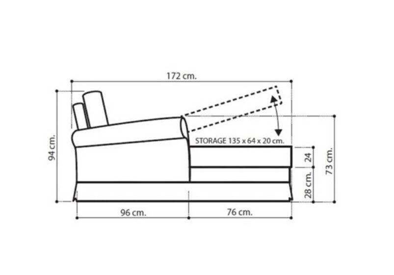 Κλασικό ανάκλιντρο με αποθηκευτικό χώρο CG-105130