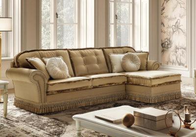 Γωνιακός κλασικός καναπές με αποθηκευτικό χώρο