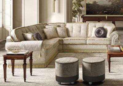 Πολυτελής κλασικός γωνιακός καναπές