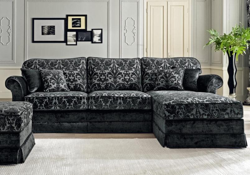 Γωνιακός καναπές για κλασικό σαλόνι