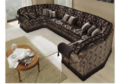 Μεγάλο κλασικό σαλόνι οκτώ θέσεων
