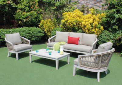 καθιστικό σετ κήπου με ξύλινο σκελετό ακακίας 4 τεμαχίων