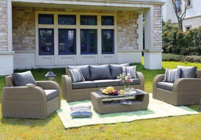 rattan καθιστικό σετ κήπου με αλουμίνιο σκελετό 4 τεμαχίων