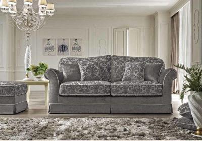 Τριθέσιος κλασικός καναπές κρεβάτι