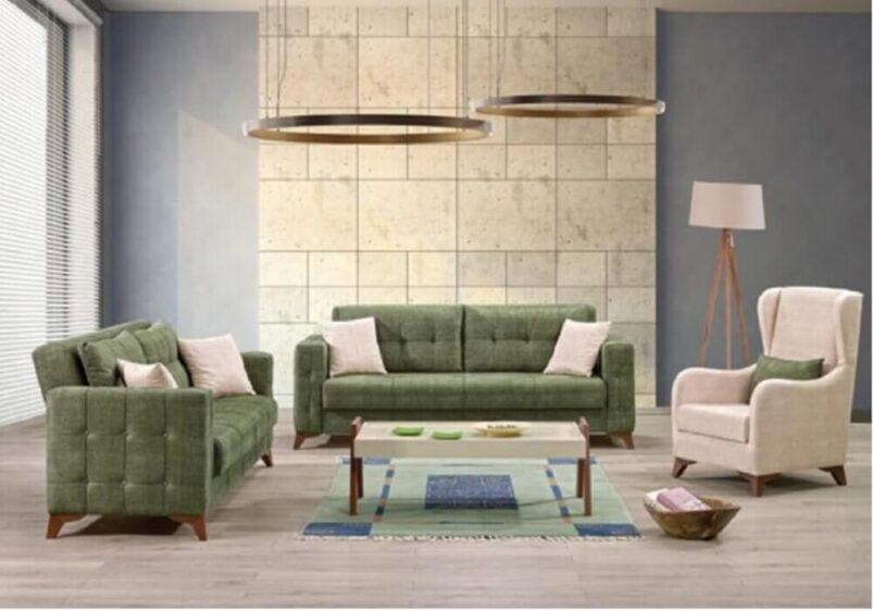Διθέσιος καναπές με σχέδιο καπιτονέ AS-105134