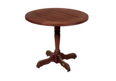 Στρογγυλό Ξύλινο Τραπέζι Κήπου Kwilla