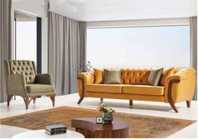 Chesterfield μοντέρνος καναπές τριθέσιος As-105136
