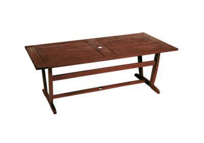Ξύλινο Σταθερό Τραπέζι Κήπου Kwilla