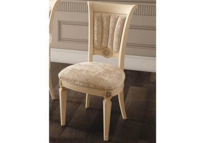 Καρέκλα ιβουάρ με ύφασμα βελούδο αρχαιοελληνική