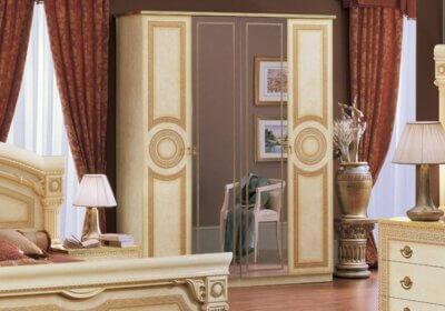 Ντουλάπα αρχαιοελληνική κλασική με καθρέφτες