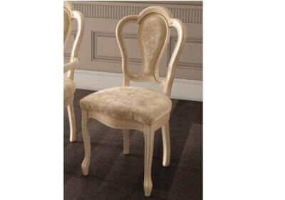 Κλασική καρέκλα ιβουάρ με βελούδινο ύφασμα