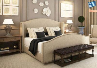 Η πολυτέλεια και η κομψότητα σε ένα υφασμάτινο κρεβάτι