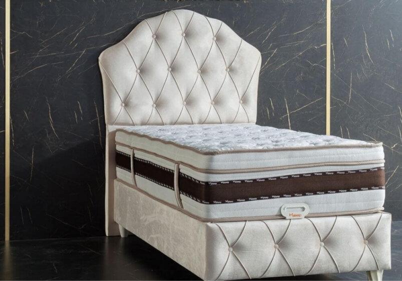 Κρεβάτι ημίδιπλο με καπιτονέ κεφαλάρι