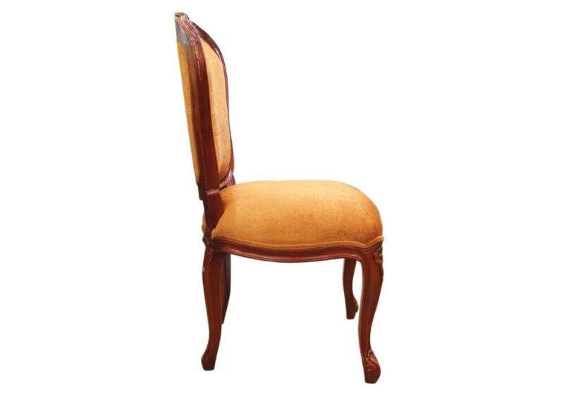 καρέκλα τραπεζαρίας με μαξιάρωτο καθισμα και πλάτη