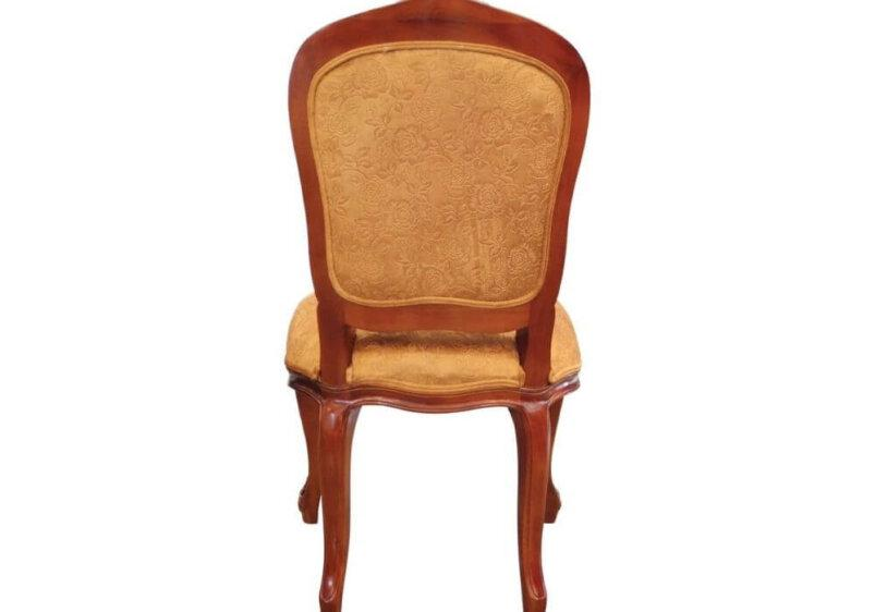 επενδυμένη πλάτης καρέκλας με χρυσό ύφασμα