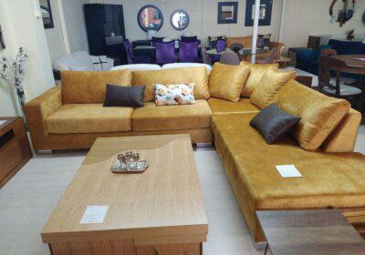 Μεγάλος μοντέρνος γωνιακός καναπές
