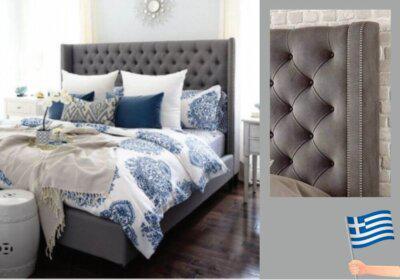 Χειροποίητο πολυτελές κρεβάτι ελληνικής κατασκευής
